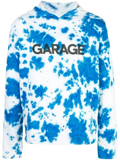 elder statesman garage tie dye hoodie