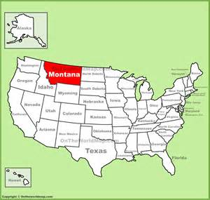 montana location on the u s map