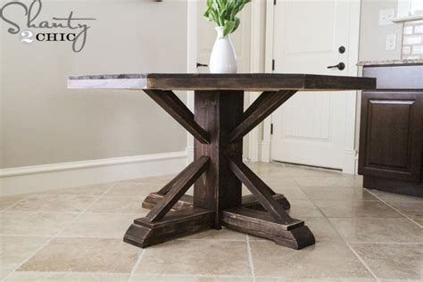Kitchen Island Diy Plans Diy Round Wooden Table For 110 Shanty 2 Chic