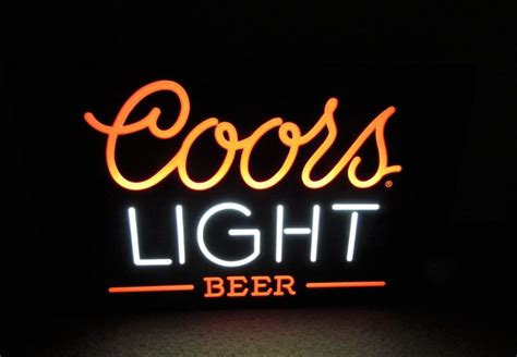 coors light lighted sign vintage coors lighted sign shop collectibles daily