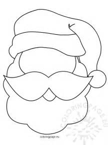 santa claus craft template printable santa mask coloring page