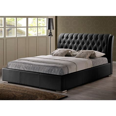 tufted queen size headboard bianca black modern queen size bed with tufted headboard