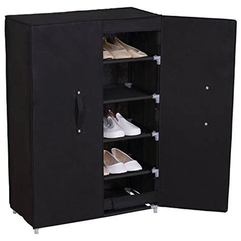 shoe storage black woltu 6 tiers portable shoe rack with dustproof cover