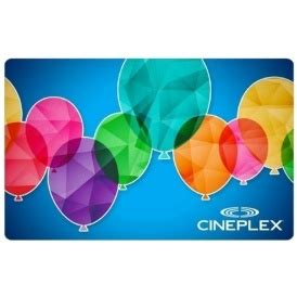 cineplex gift pack free 30 movie gift pack with 30 gift card purchase