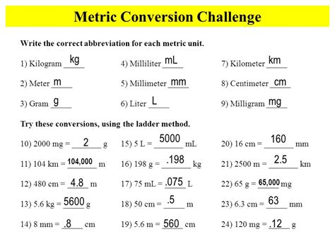 conversion challenge the metric system if you can understand and use pounds