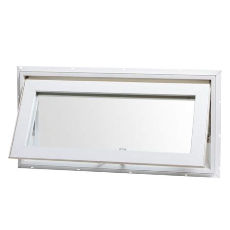 home depot awning windows tafco windows 32 in x 16 in awning vinyl window with screen white va3216 the