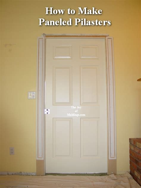 How To Replace Door Trim by Door Pilasters A Classical Pediment And Pilasters Runs The Risk Of Looking Overdone But Here