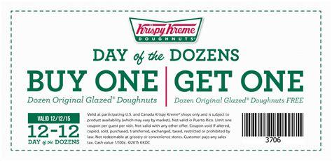 the dozen coupon code printable coupons and deals krispy kreme free dozen