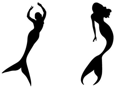 little mermaid silhouette tattoo mermaid silhouette vector shapes for cameo