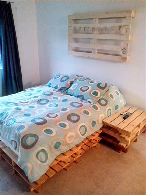 Cama Con Estibas | cama hecha con pallets pallets pinterest pallets