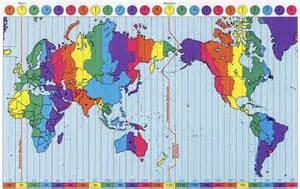 Map With Time Zones by World Time Zones Aminath Minna Minnu