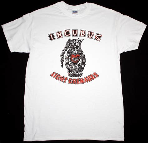 incubus light grenades new white t shirt best rock t shirts