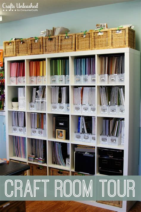 Papercraft Storage - craft room tour organizational storage ideas crafts