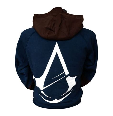 Hoodiesweater Assasin Creed Unity assassin s creed unity large hoodie blue brown for only c 69 85 at merchandisingplaza ca