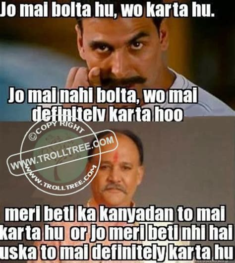 Funny Hindi Memes - share your remark on the trolls hindi jokes