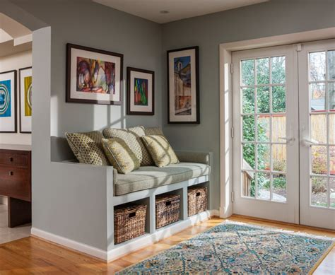 Ideas For Decorating Kitchens transitional spaces custom built in bench seat