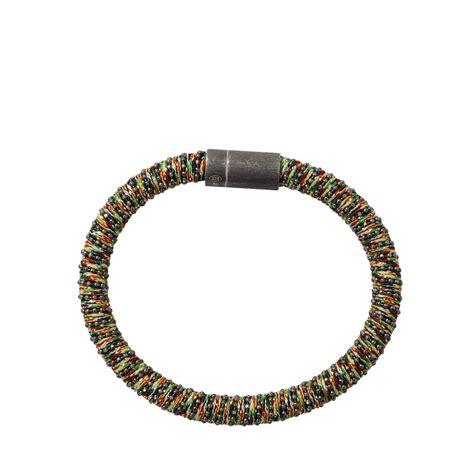 2 Die 4 Marc Printed Snap Bracelet by Lyst Carolina Bucci Multi Color Band Bracelet