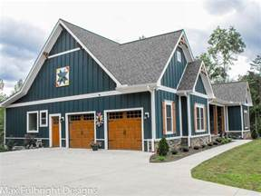 one or two story craftsman house plan country craftsman