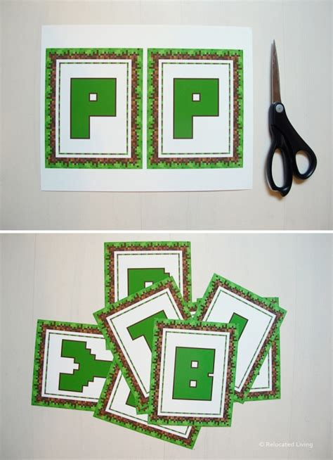 free printable minecraft alphabet letters minecraft printable letters pictures to pin on pinterest