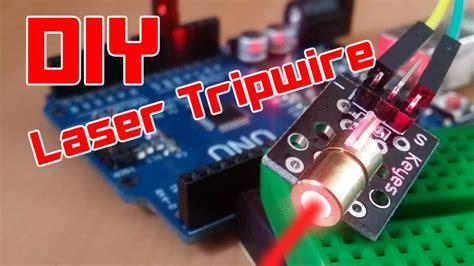 diy easy arduino laser tripwire security system