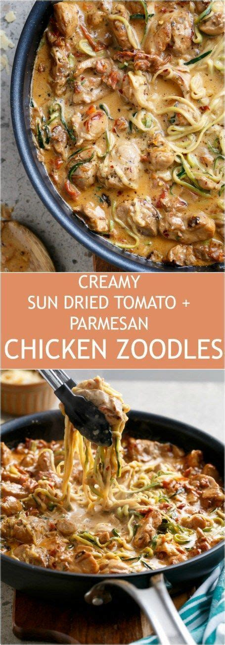 sundried tomato parmesan chicken zoodles recipe