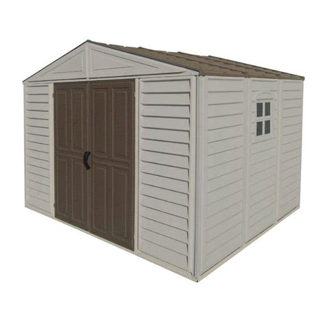 Lowes Vinyl Storage Sheds duramax building products 10 ft x 8 ft gable vinyl storage
