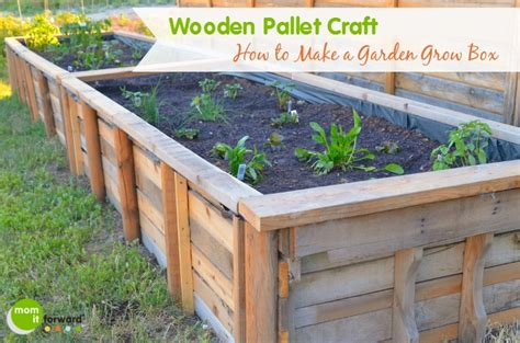 How To Make A Box Garden by How To Make A Box Garden We Had Some Wood Pallet S