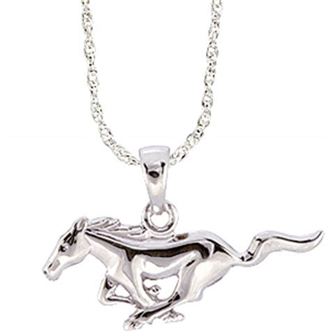 ford mustang 3 8in necklace sterling silver ndf500