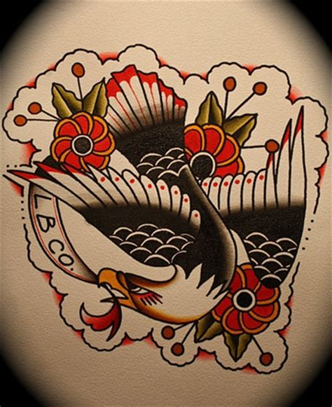 folk art tattoo mike lussier freek folk eagle