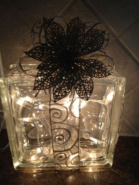 take six glass block christmas decoration