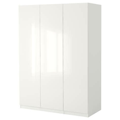 White High Gloss Wardrobes by Pax Wardrobe White Fardal High Gloss White 150x60x236 Cm