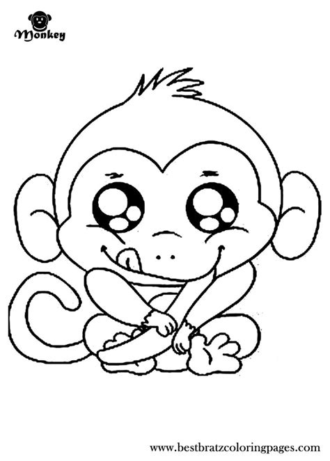 animal coloring pages monkey cute monkey coloring pages to download and print for free