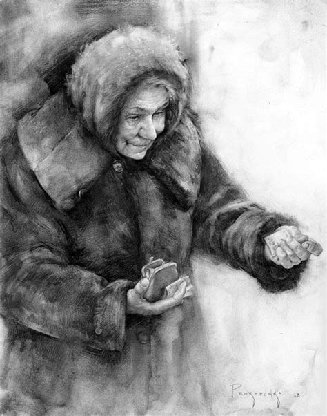 "Study for ""Russian Bazaar"" Graphite and Charcoal Powder By"