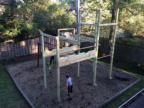in your backyard back yard ninja course