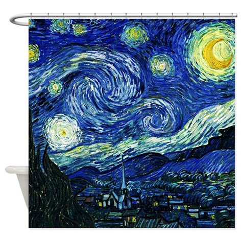 starry night shower curtain van gogh starry night shower curtain by iloveyou1