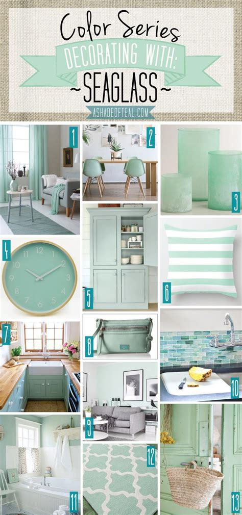 decorations summer wall decor shades of aqua blue using color series decorating with seaglass