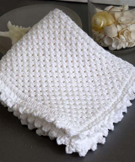 knit picot picot edge knit dishcloth pattern favecrafts