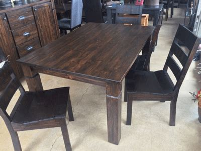 Solid Wood Dining Table Canada Made In Canada Solid Wood Furniture