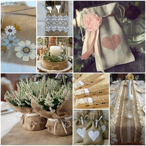 burlap home decor ideas cool decorating ideas with burlap and lace