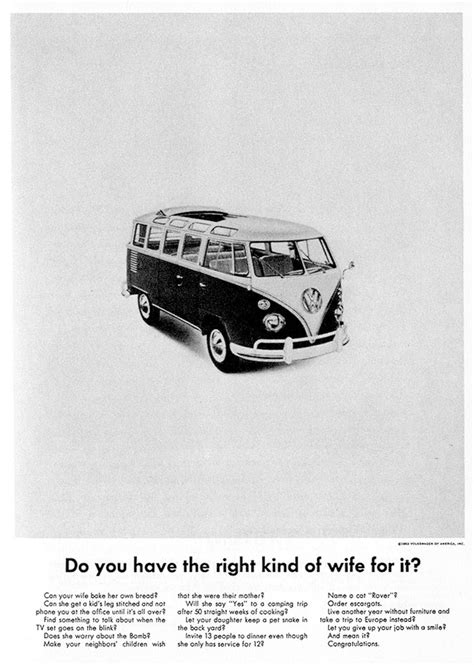 volkswagen ads before it was the bus vw s type 2 worked for a living