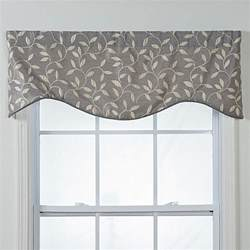 Curtain Designs For Kitchen Windows kensington shaped grey vines window valance 15826990