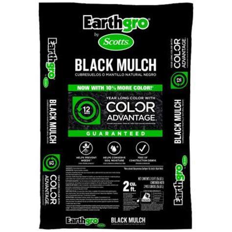 Home Depot Scotts Mulch by Scotts Earthgro 2 Cu Ft Black Mulch