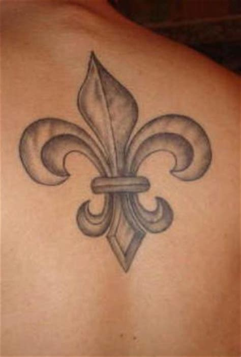 fleur de lis tattoo design pin fleur de lis purple ink on