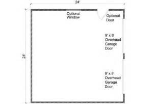 Workshop Blueprints by 24x24 Garage Plans 2 Car Garage Plans 2 Doors