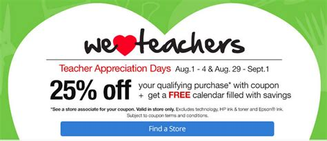 office depot in store coupons teachers save 25
