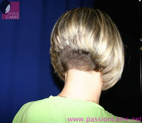 short stacked bob haircut shaved tymus renforce le plongeant de sa coupe au carr 233 aline