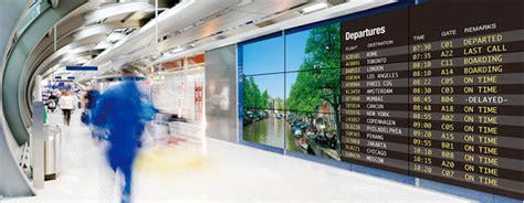 digital info display wall markets information mitsubishi