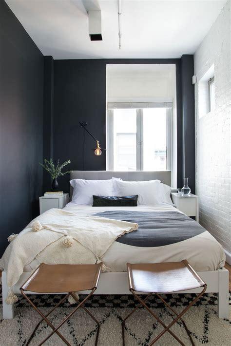 striking artful soho loft tiny bedroom design small