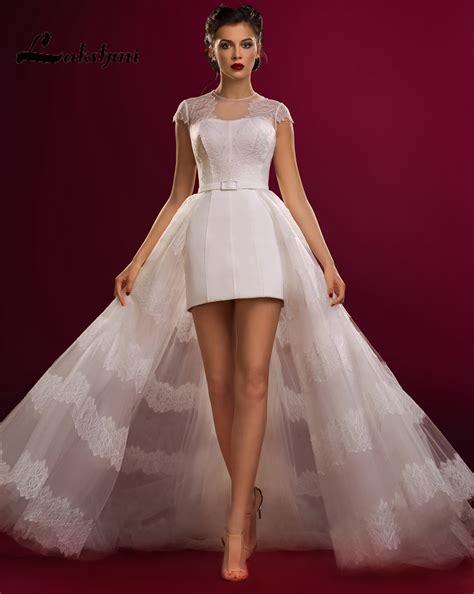 custom made jewel cap sleeve detachable wedding dresses