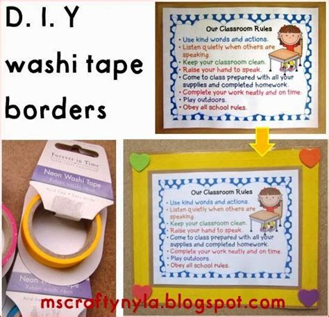 printable poster board borders diy washi tape borders for posters and classroom bulletin